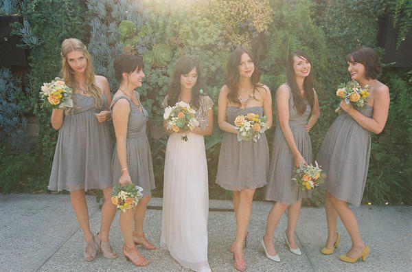 Columbia gorge weddings february 2011 the color navy is another popular choice for 2011 i love to see this neutral with bright lime greens yellows and oranges black bridesmaids dresses mightylinksfo