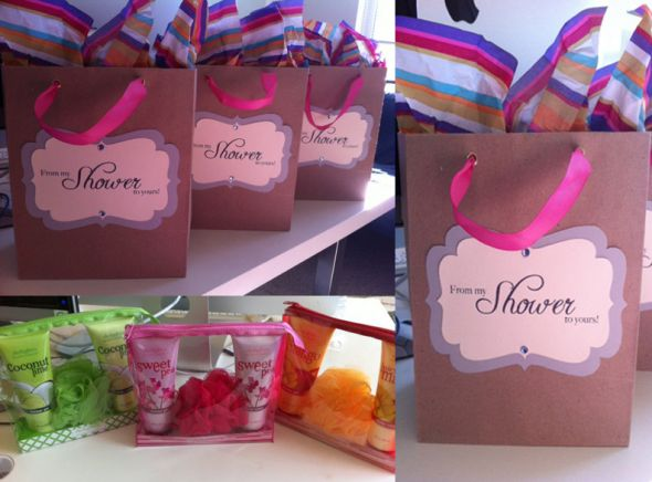 From my shower to yours hostess gifts i made the labels myself using left over card stock and the rhinestones that i got to make the i do for my shoes solutioingenieria Images
