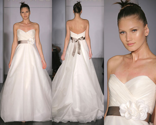 "I googled ""wedding dress with black sash"" and I got pages of images."
