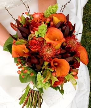 wedding autumn fall flowers decorations