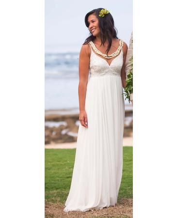 Nicole Miller LA0007 Celtic Beaded Gown Size 6 8 995 wedding nicole