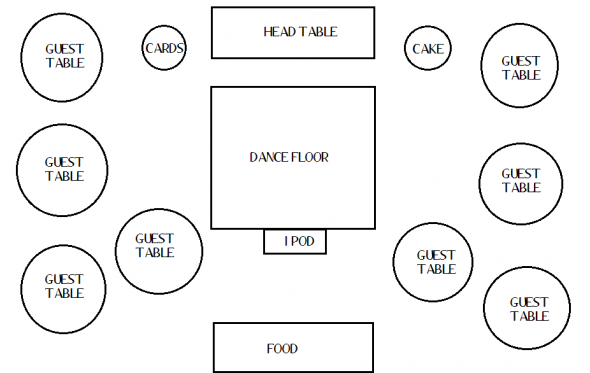 Wedding reception floor plan images frompo for Banquet floor plan template