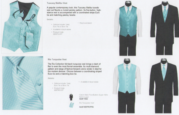 Rio Turquoise or Tuscany Malibu poll wedding poll groomsnan suits Suits