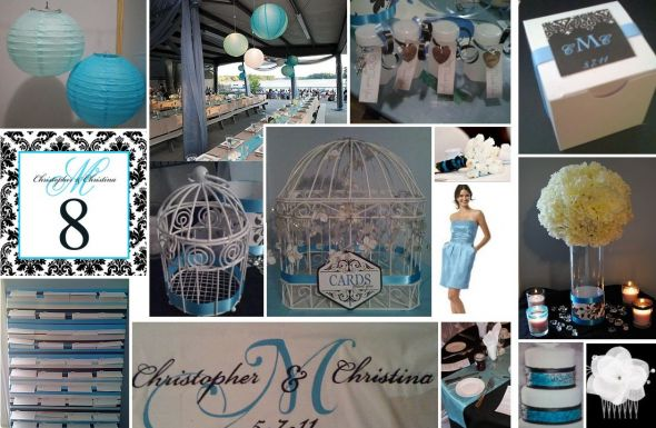 for black 90 or 120 tablecloths or any teal aqua colored items wedding