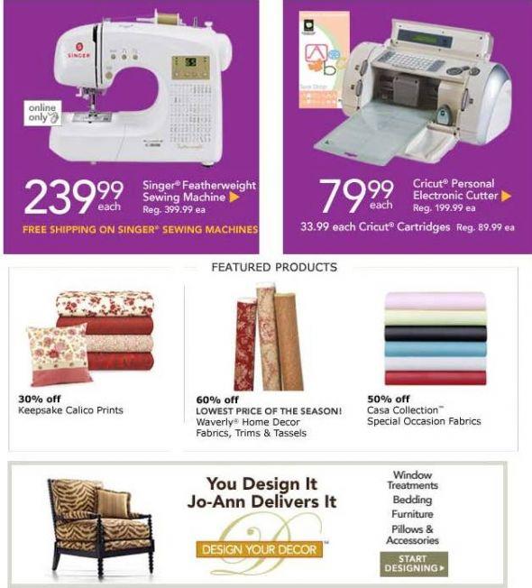 Huge Joann Fabrics Sale and COUPONS!