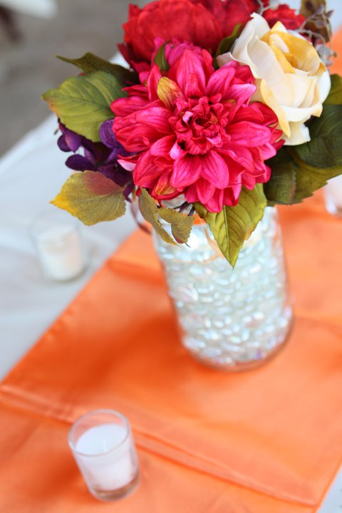 Mason Jars and Fall Flower Centerpieces wedding fall flower centerpiece