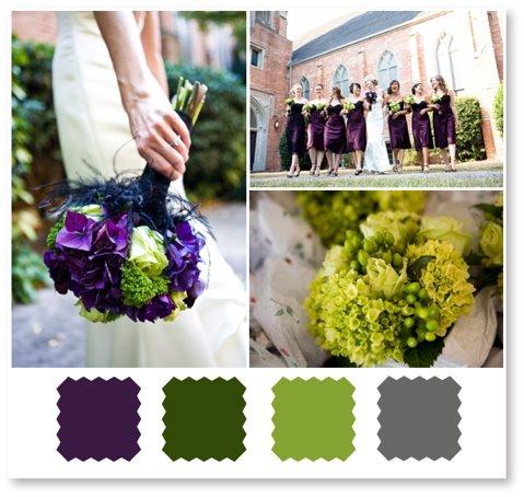 wedding eggplant flowers dresses color palette scheme Fabric 1 year ago