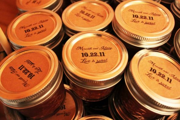 Homemade apple butter favors wedding Favors