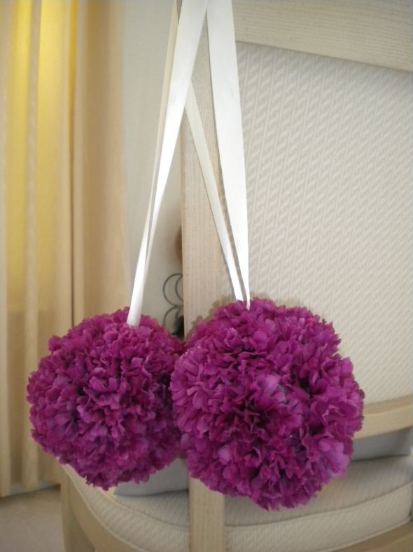 Purple Ivory and Gray Wedding Decor ALL FOR SALE NOW wedding silk flower