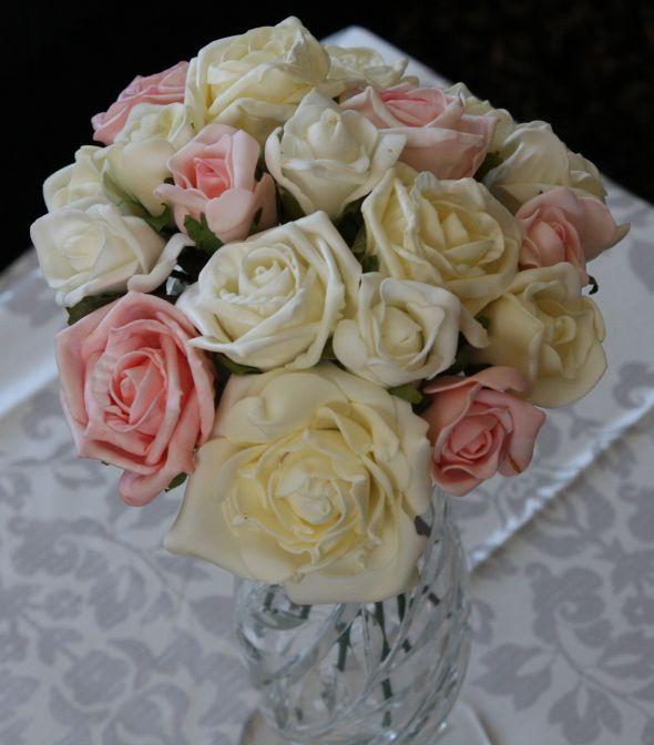 Diy centerpieces with foam roses mightylinksfo