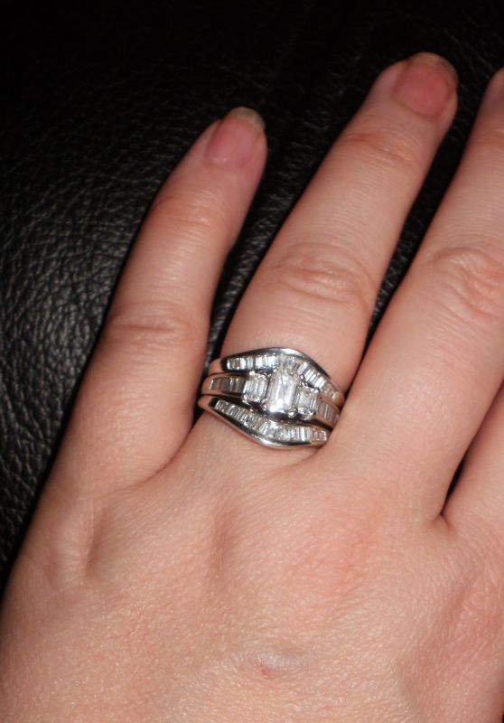 What do you wear on topengagement ring or wedding band wedding