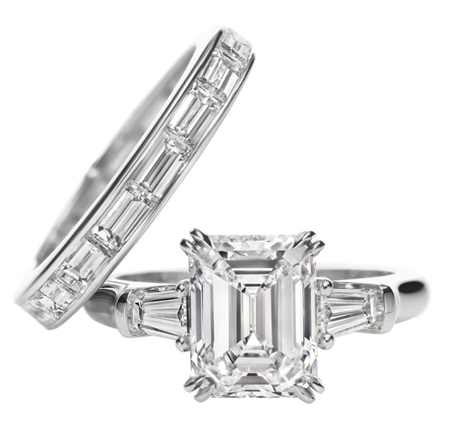 If you could have any e ring you wanted with no budget constraints a harry winston emerald cut but not with the wedding band they have shown with it junglespirit Image collections