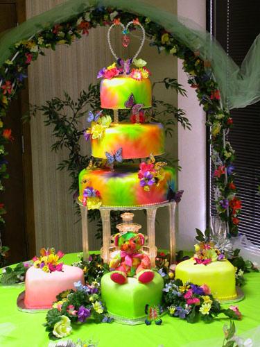 Candy Land Wedding wedding rainbow bridesmaids candy land wedding Rainbow