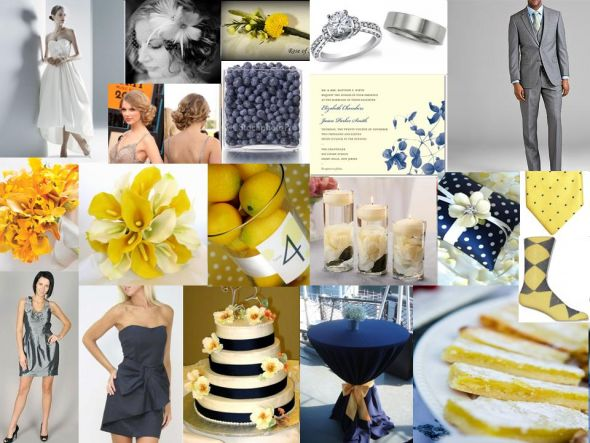 Navy and Grey Inspiration wedding color inspiration navy and grey