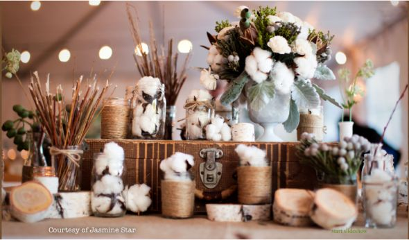 Cotton and burlap Oh how cheap and wonderful you are wedding Cotton