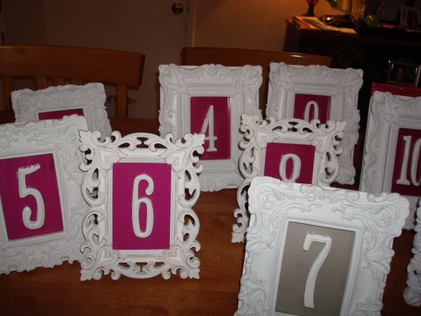 Emms S Blog Baroque Damask Table Number Frames Wedding