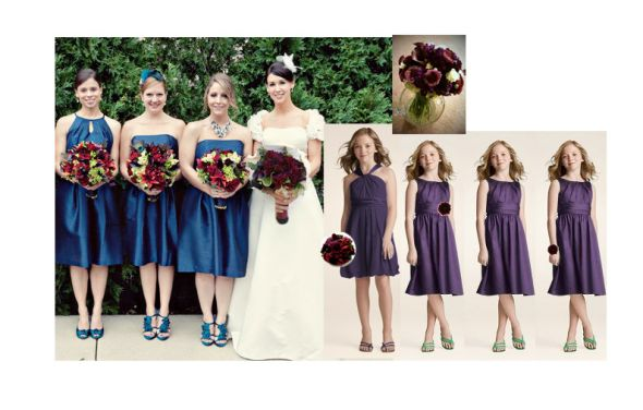 Color Conundrum Teal Burgundy with Mustard OR Purple wedding colors