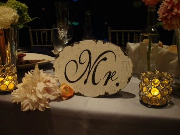 Bling Decor :  wedding bling napking rings votives reception Head Table Mr Close Up