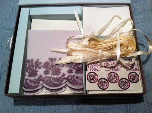 Purple and Ivory Invitation Kit for Sale wedding invitations purple