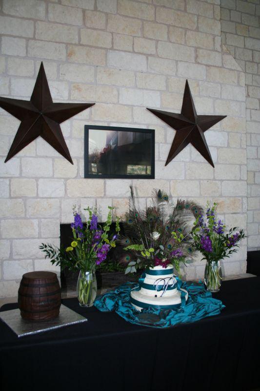 teal purple silver weddings