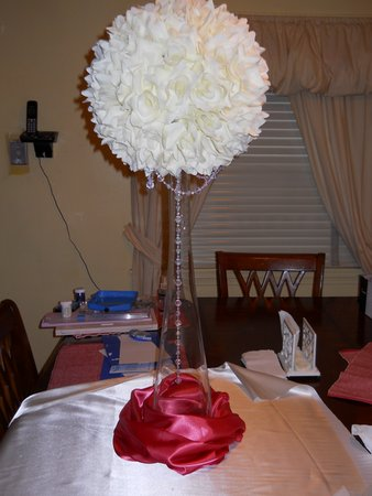 updated My CenterpieceWITH bling wedding flowers diy reception
