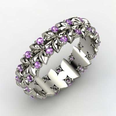 Dream Wedding Band wedding ring wedding band amethyst diamond WeddingBand