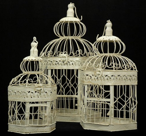 Large Bird Cage wedding bird cage card box card cage white ivory ceremony