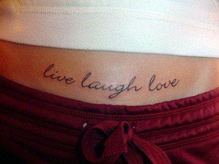 Skirts 10 comely live laugh love tattoos on side for Live love laugh tattoo