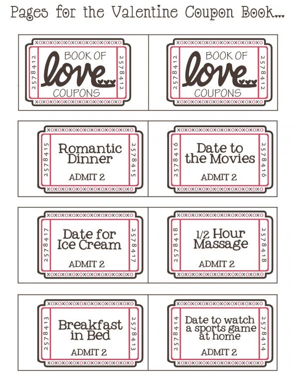 Free Downloadable Valentine Coupon Booklet
