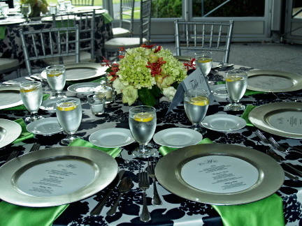 Looking for black white damask and lime green decor wedding black green