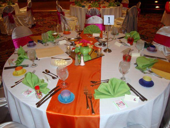 orange and lime green wedding decor gallery wedding decoration ideas