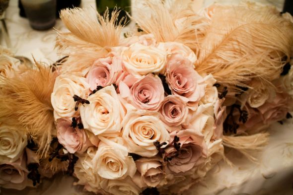 wedding Bouquet Flowers 221 10 M So light peach ivory roses with some
