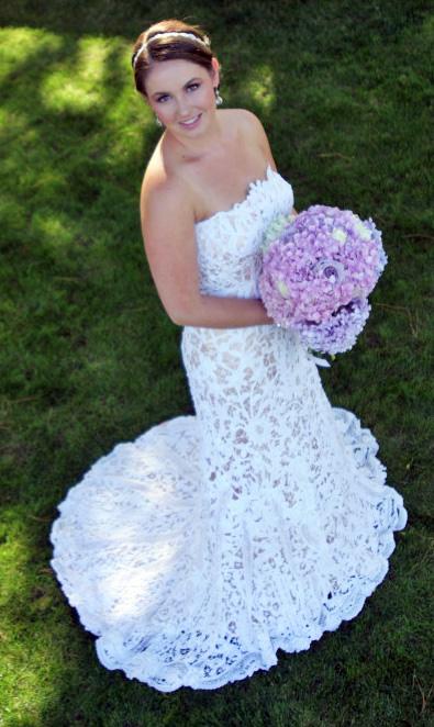 My vintage lace wedding dress � Weddingbee Gallery