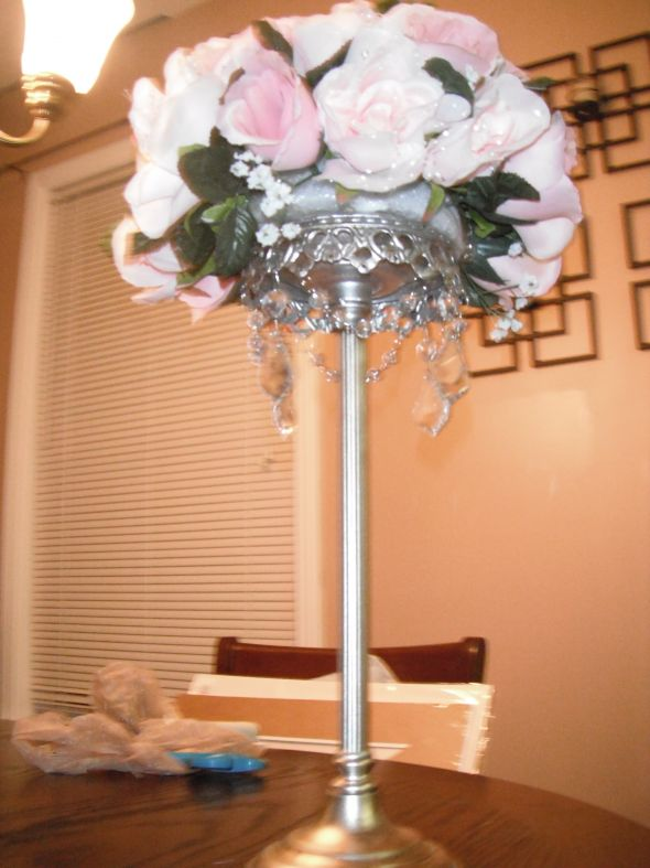 Cake Table Floral Arrangements