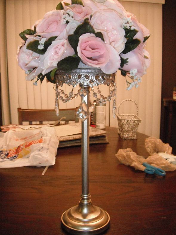 Cake Table Floral Arrangements wedding cake table flowers pink silver
