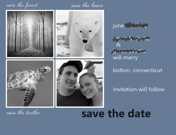 Our DIY Save The Dates wedding save the dates blue diy Save The Date