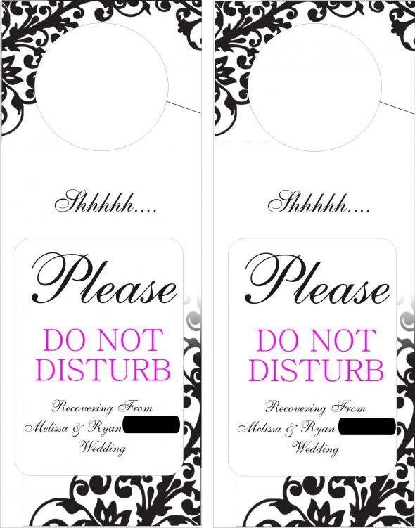 Free do not disturb template for Free do not disturb door hanger template