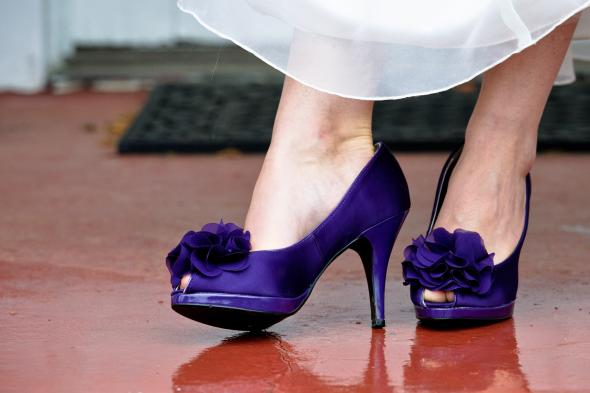 My shoes! :  wedding purple AJG 3074