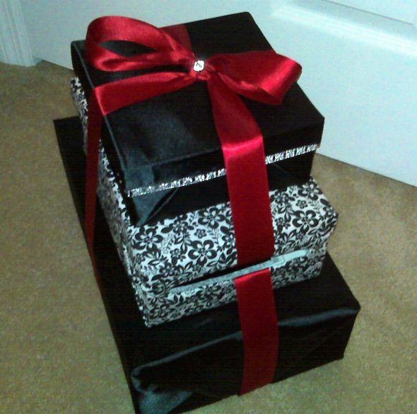 DIY Cardboxmy 1st of many projects wedding card box cardbox black