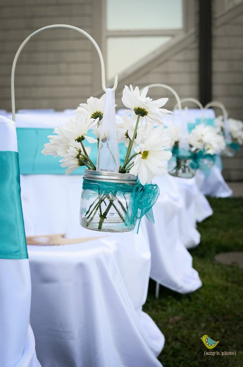 Candelabra Centerpieces wedding chair sashes turquoise centerpieces