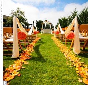 Outdoor Wedding . How did you decorate the aisle & Guest Book