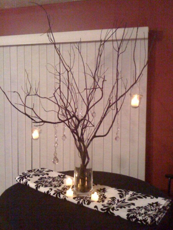 Winter Manzanita Centerpieces : Roxanna s wedding archived winter candle