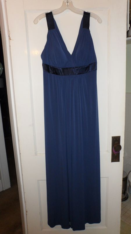 BRAND NEW David 39s Bridal Marine Blue Gown size 14 wedding bridesmaid
