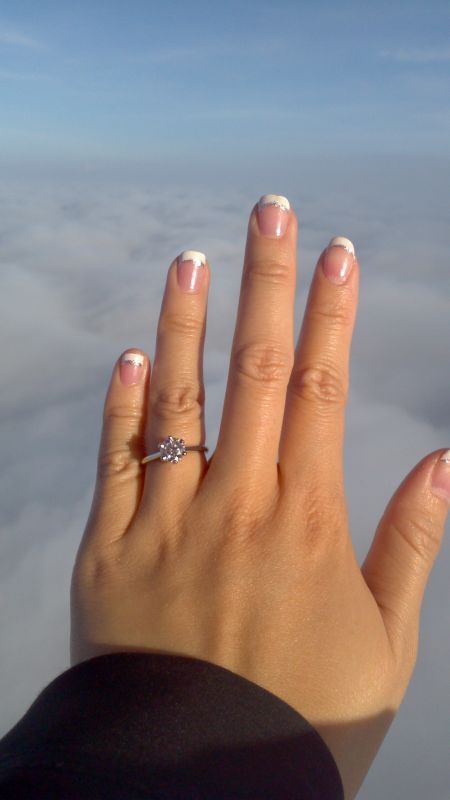 Love in a Hot Air Balloon! :  wedding bluenile engagement solitaire 2012 12 02 07 55 19 730