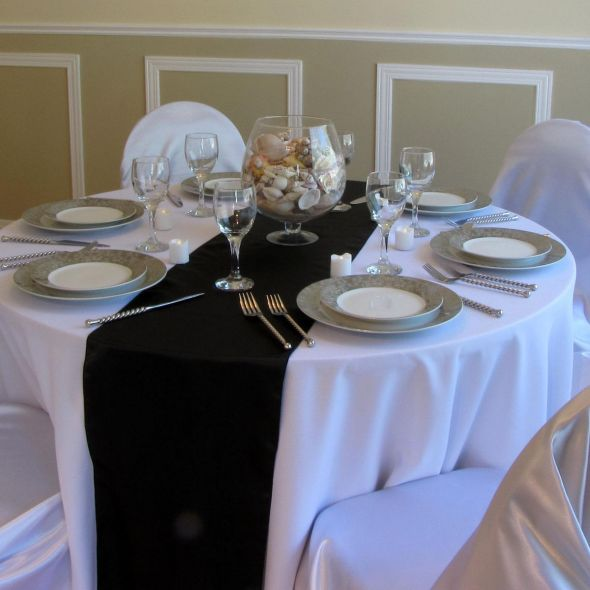 SATIN TABLE RUNNERS 150EACH wedding black red diy reception Tr Satin