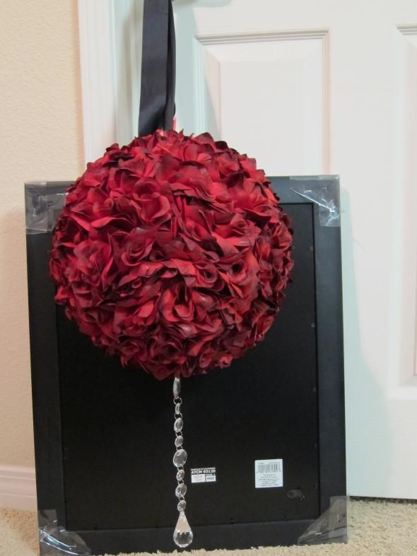 DIY Red Rose Topiaries and Pomanders