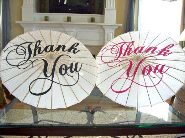 Thank You Wedding Parasols for Sale wedding thank you parasol black blue