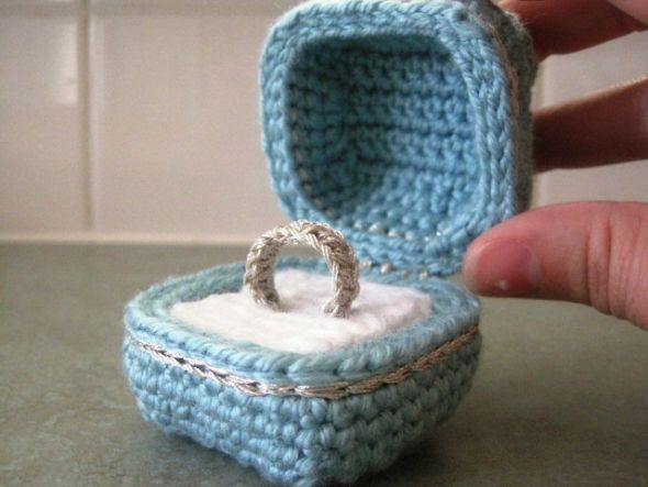 wedding Crocheted Ring Box Anyway we had planned to go to Chicago this