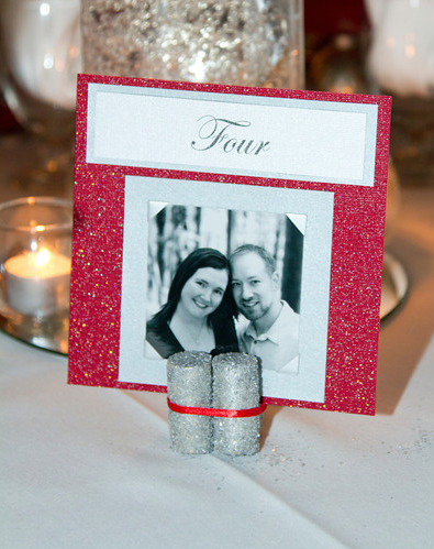 Table Number Stands wedding cork table stands numbers silver diy reception