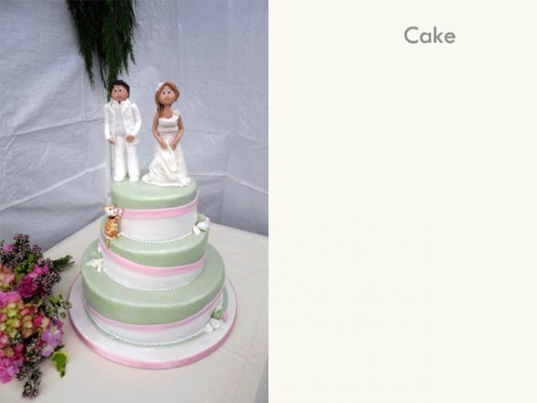 wedding cake royal wedding sugar paste figurines green pink white